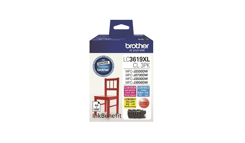 Brother LC-3619CL 3-Pack Ink Cartridge-CMY-001
