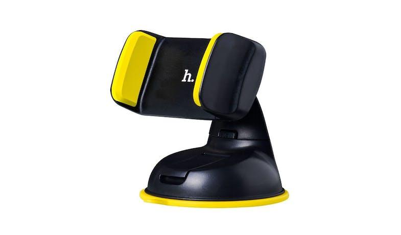HOCO CA5 Cellphone Clip Suction Mount Car Holder - Yellow-01