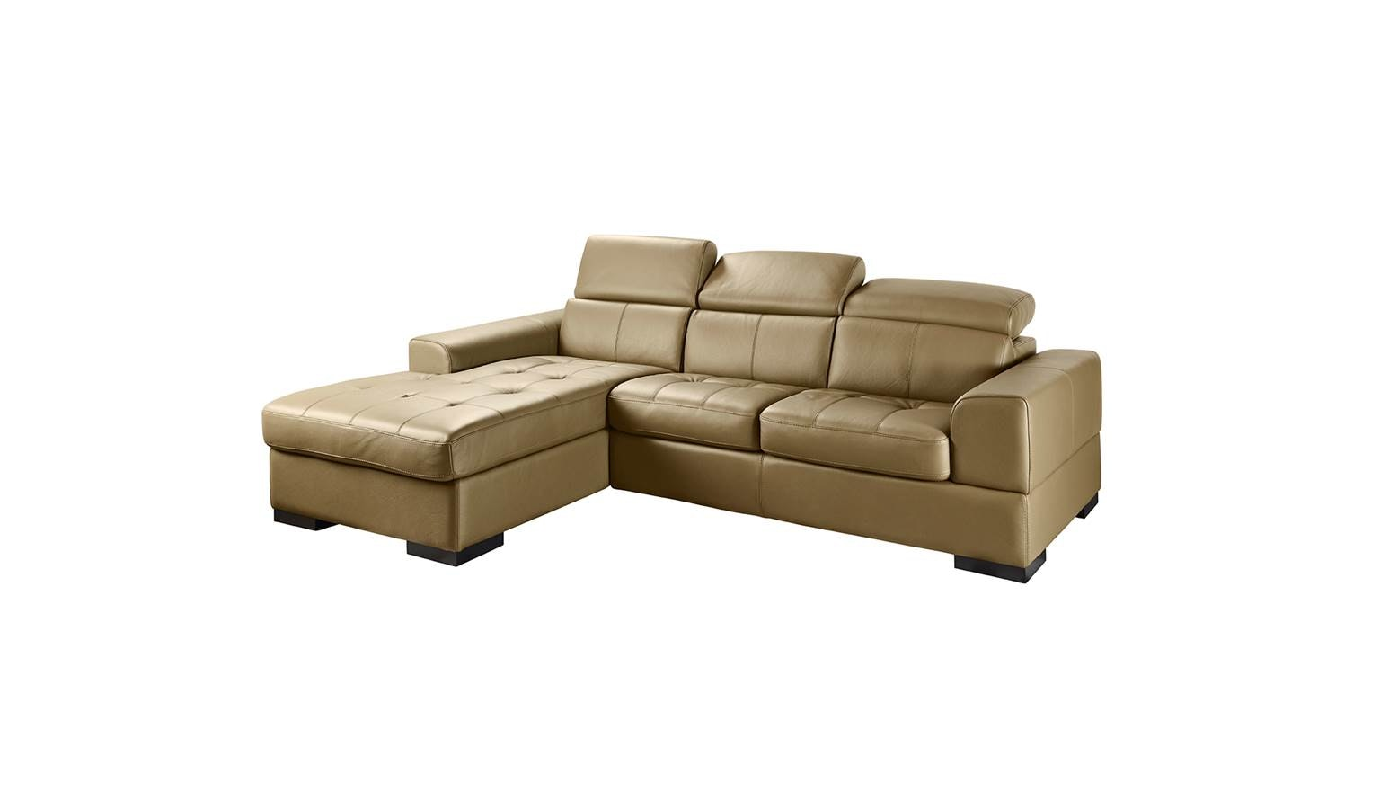 Noemi Italian Full Leather 3-Seater with Chaise