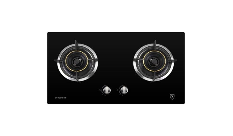 EF EFH 7623 HM VGB 73cm Glass Gas Hob- Black-01