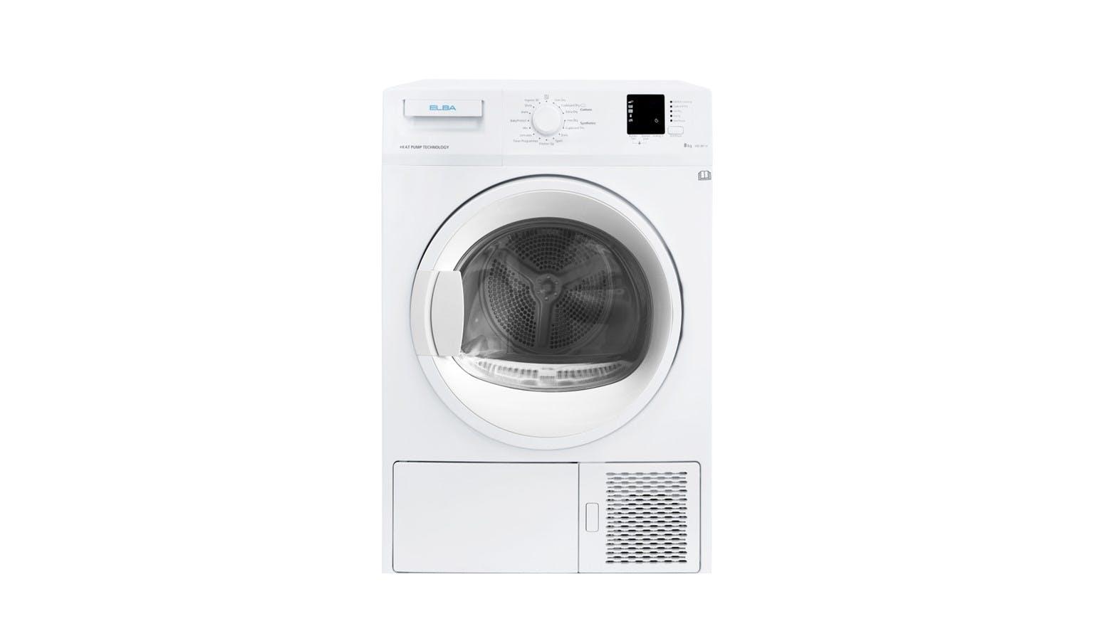 Elba EBD881H 8KG Heat Pump Dryer - White