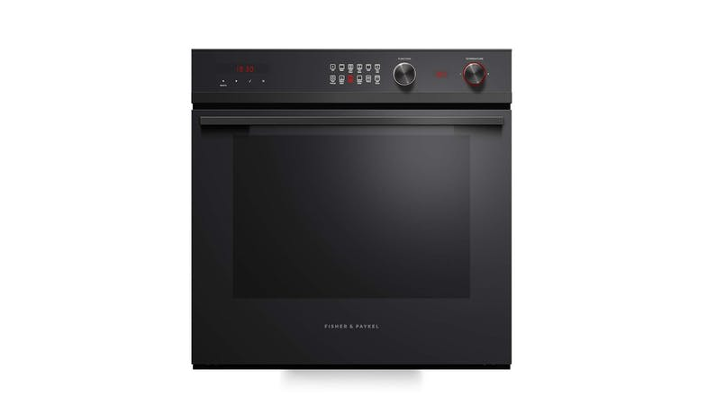Fisher & Paykel Pyrolytic 60cm 85L Built-in Oven - Black glass