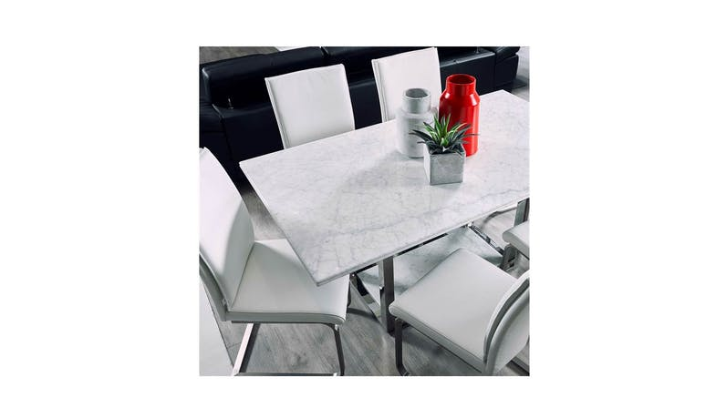 Luisa Leather Dining Chair - White