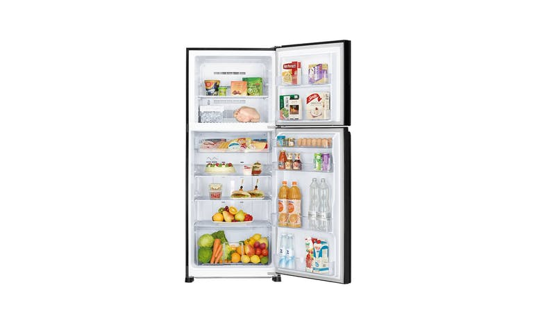 Mitsubishi MR-FX47EN 362L 2 Door Refrigerator - Glass Brilliant Black-02