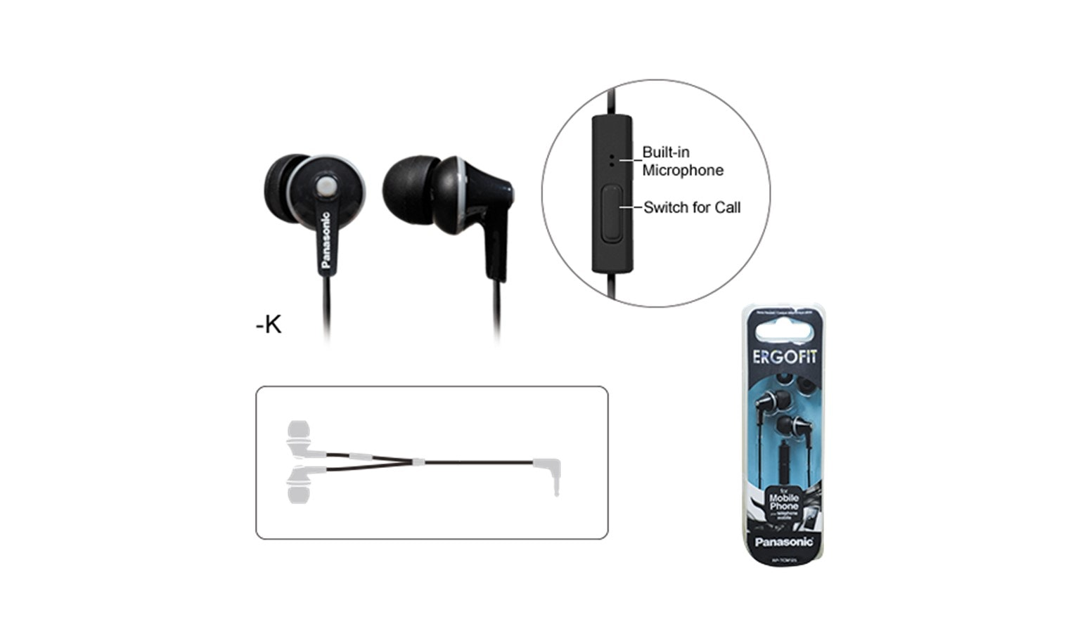Panasonic RP-TCM125E-K In-Ear Headphone - Black-01