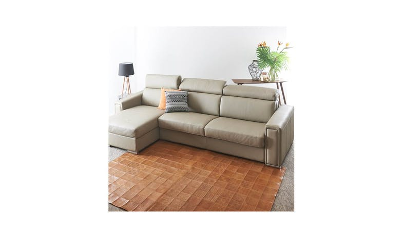 Peter Italian 3 Seater Sofa Bed with Chaise