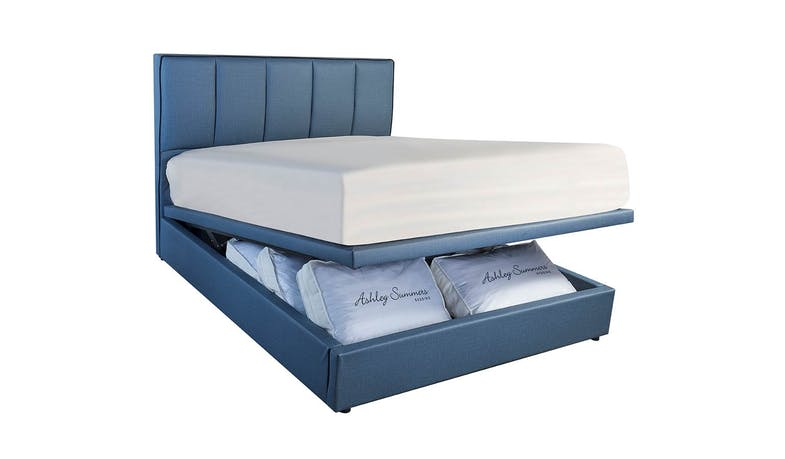S3 Queen Size Storage Bed Frame - PVC Upholstered