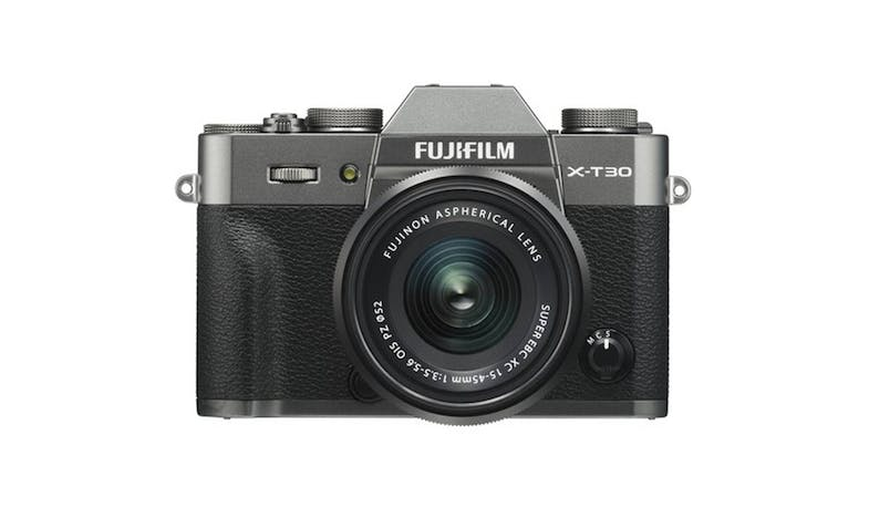 FUJIFILM X-T30 Digital Camera w XF15-45mm lens-  Charcoal Silver-01
