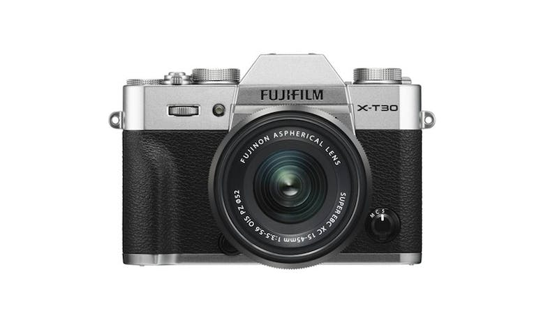 FUJIFILM X-T30 Digital Camera w XF15-45mm Lens - Silver-01