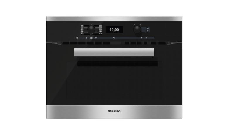 Miele H 6400 BM Combination Microwave Oven - Clean Steel 01