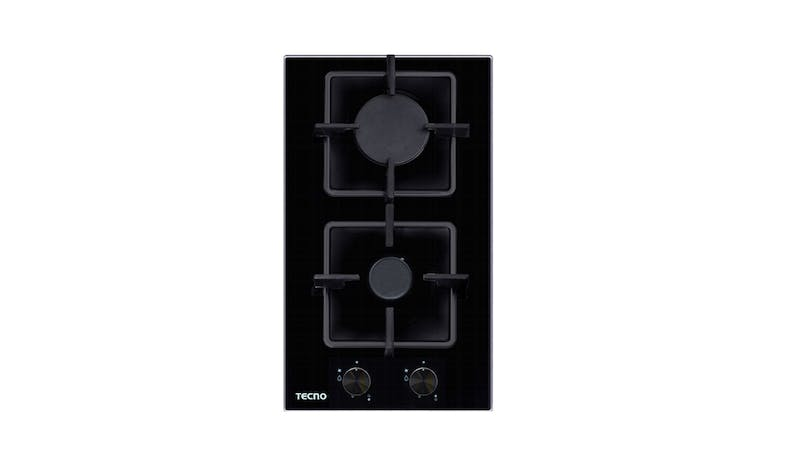 Tecno TA312SRSV 30cm Tempered Glass Domino Cooker Hob - Black 01