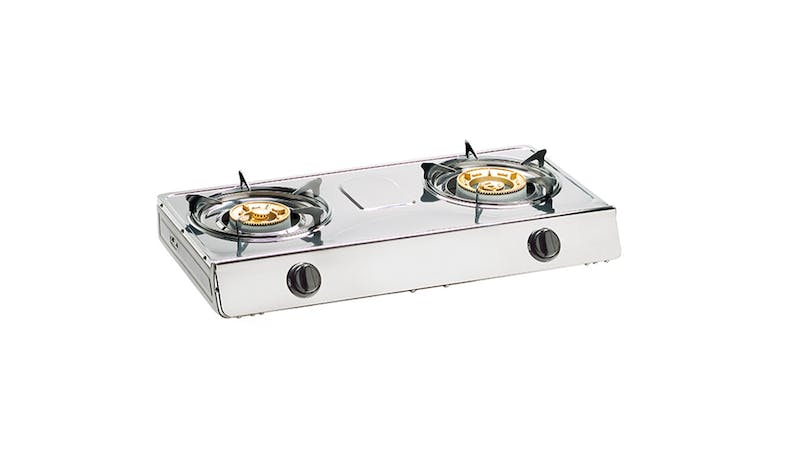 Tecno TTC F8 SV Double LPG Burner Table Cooker - Stainless Steel-01