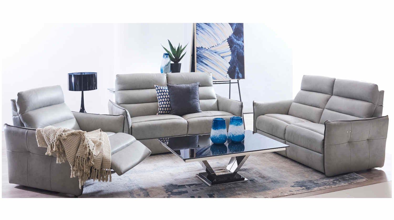 Surprising Dora Italian Full Leather Recline Sofa Machost Co Dining Chair Design Ideas Machostcouk