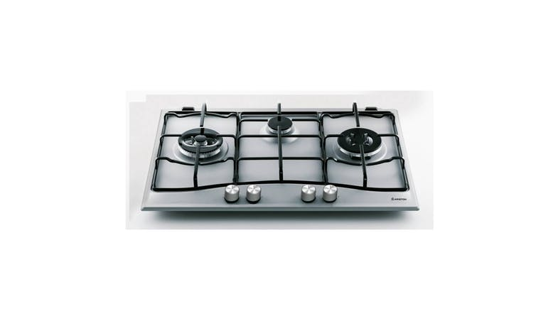 Ariston PCN 732 T/D2/IX/A 75cm 3 Gas Burner Hob - Stainless Steel-01