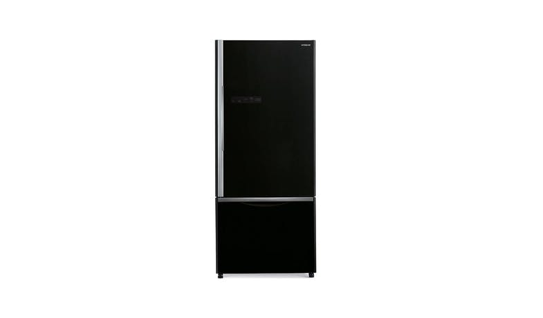 Hitachi RB570P7MS-GBK 470L 2 Door Fridge - Glass Black-01