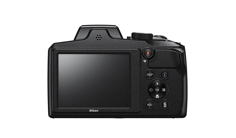 Nikon CoolPix B600 Digital Compact Camera - Black (Back)