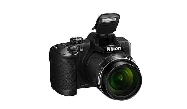 Nikon CoolPix B600 Digital Compact Camera - Black (Front Flash)