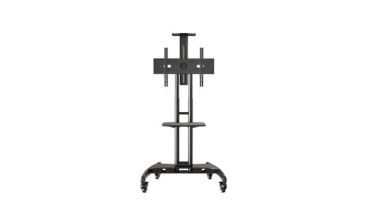 "Queenie QTS70 up to 75"" Trolley Stand - Black-01"