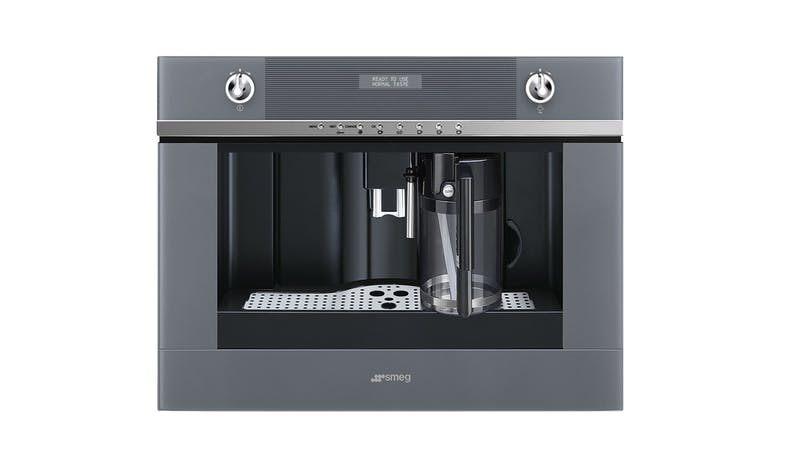 Smeg CMS4101S Coffee Machine - Steel and Silver Glass-01