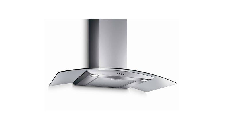 Turbo TArch-90SS 90cm Chimney Hood Glass Panel -Stainless Steel-01