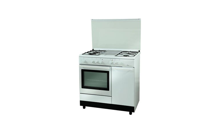 Turbo T9640WELV 90cm Standing Cooker - White-01