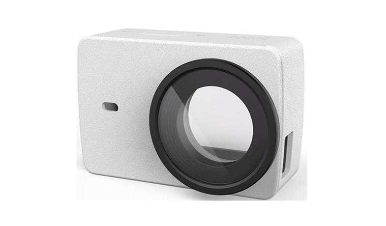 Xiao Yi 4K Action Camera Protective Lens + Leather Case - White-02