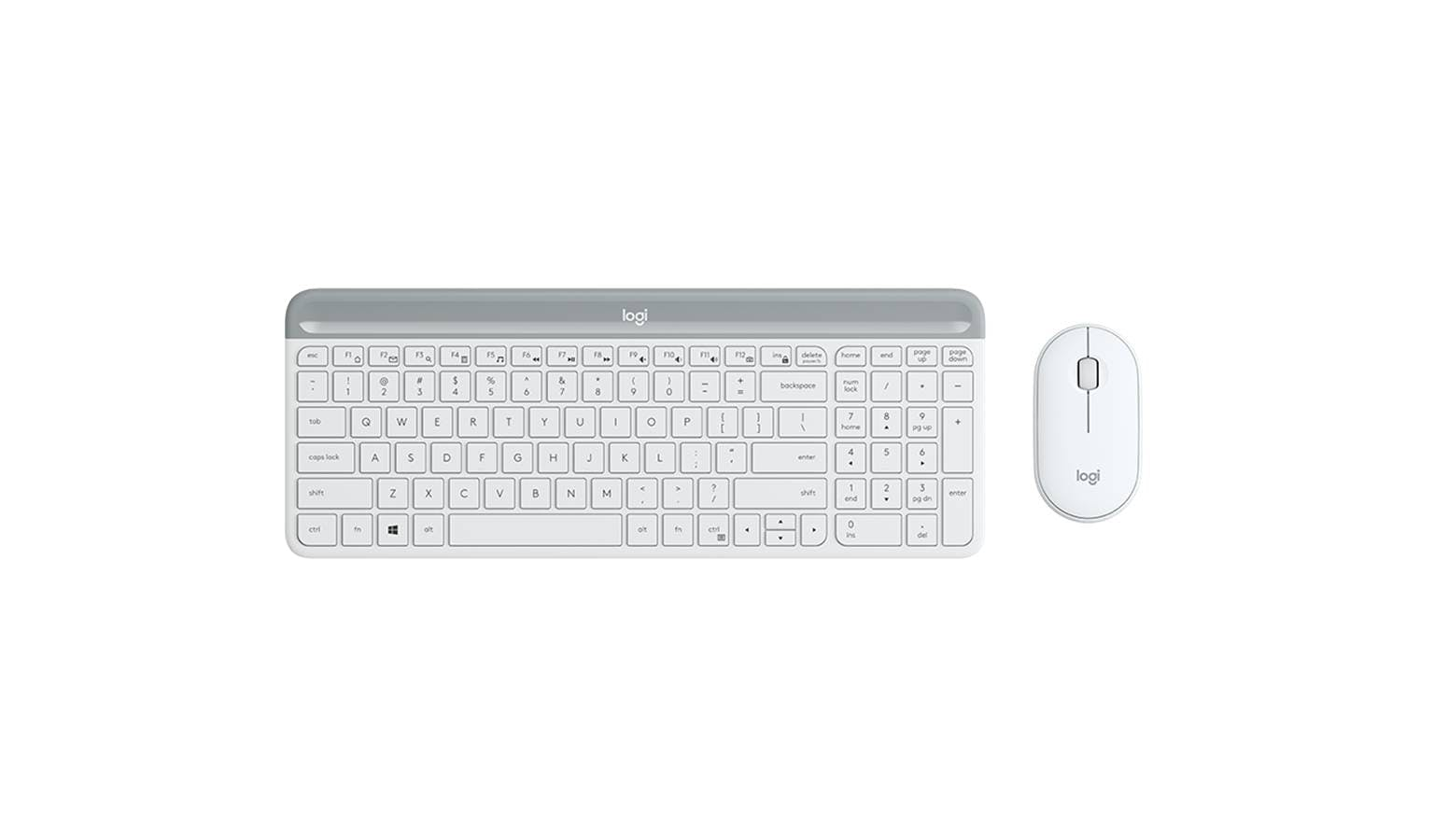 Logitech MK470 Slim Wireless Keyboard and Mouse Combo 920-009183 - Off-White