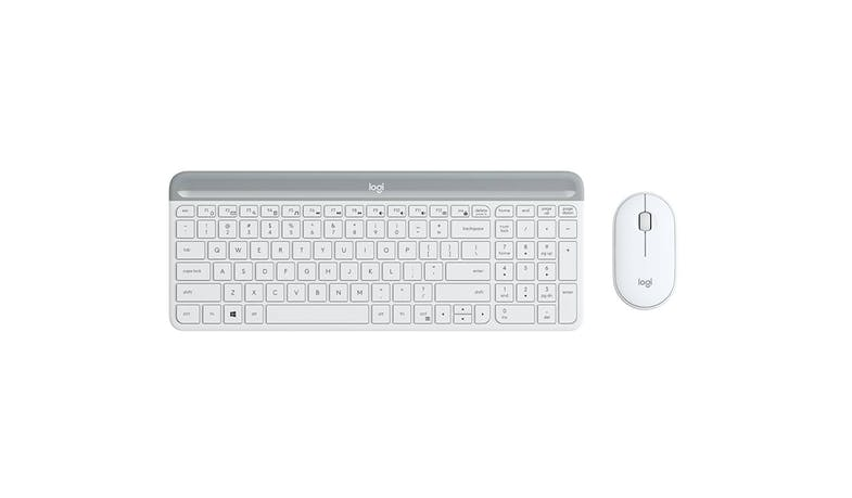 Logitech MK470 Slim Wireless Keyboard and Mouse Combo - Off-White-01