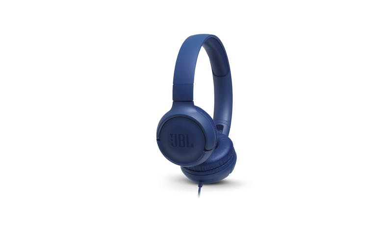 JBL Tune 500 Wired On-Ear Headphones - Blue (Main)
