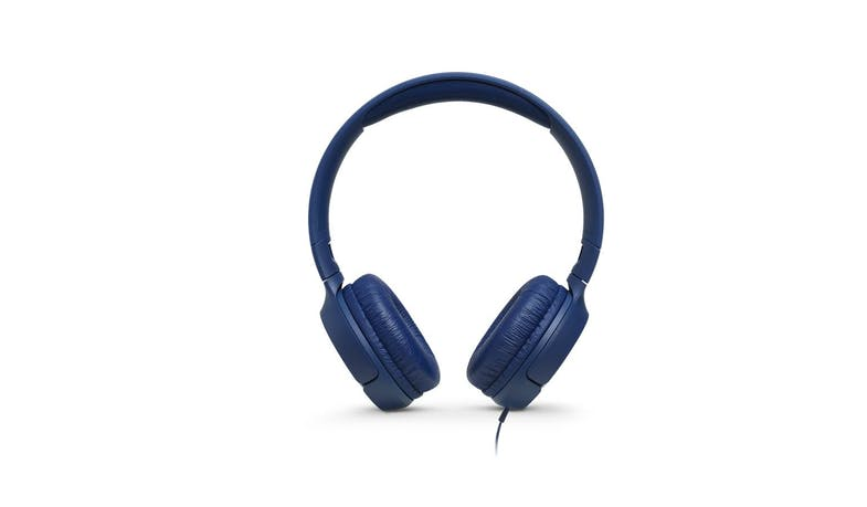 JBL Tune 500 Wired On-Ear Headphones - Blue (Front)