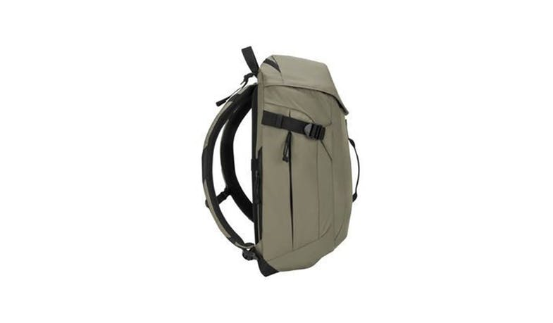 "Targus TSB97102GL 15.6"" Sol-Lite Backpack - Olive Green (Side)"
