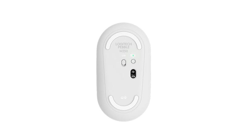 Logitech 910-005600 Pebble Wireless Mouse M350 - White (bottom)
