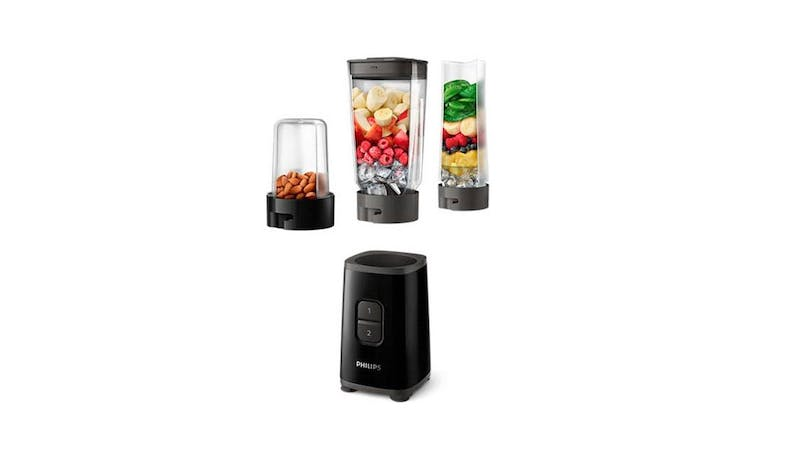 Philips HR2603/91 Daily Collection Mini Blender - Deep Black (Food Demo)