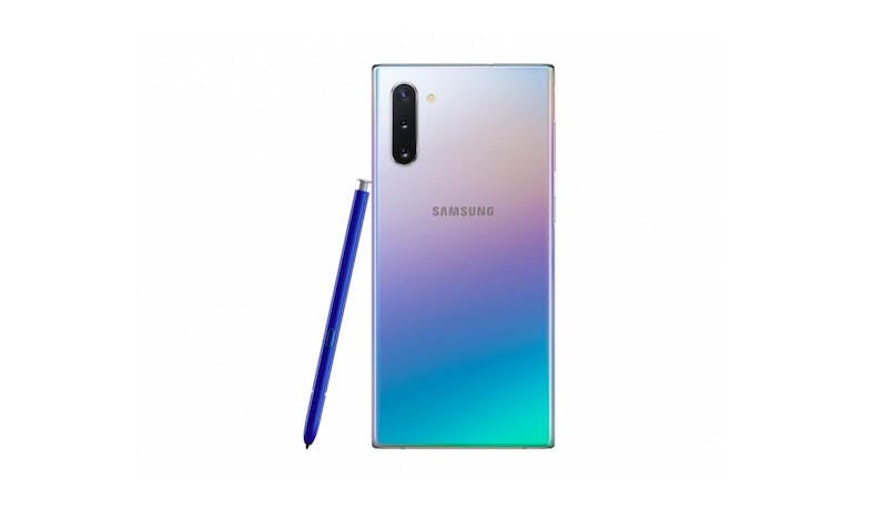 Samsung Galaxy Note10 (256GB) Smartphone - Silver (Back View)