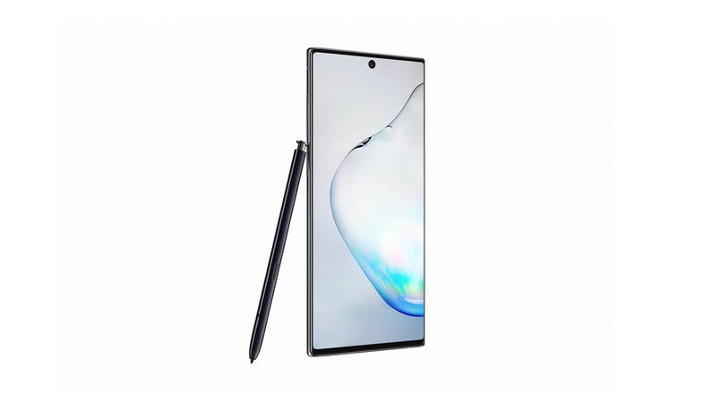 Samsung Galaxy Note10 (256GB) Smartphone - AuraBlack (Side to right)