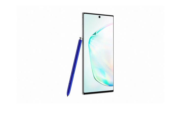 Samsung Galaxy Note10 (256GB) Smartphone - Silver (side to right)