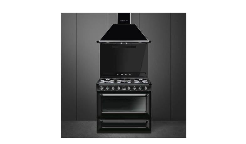 Smeg TR90BL9 Gas Cooker - Victoria Black (Overview)