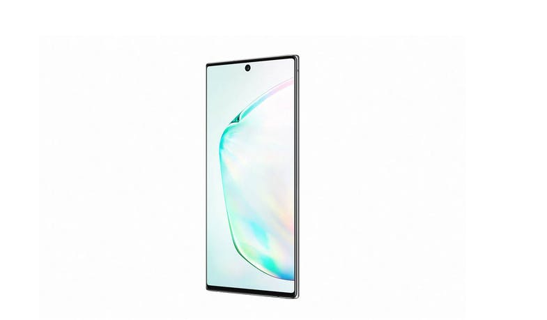 Samsung Galaxy Note10 (256GB) Smartphone - Silver (side to left)