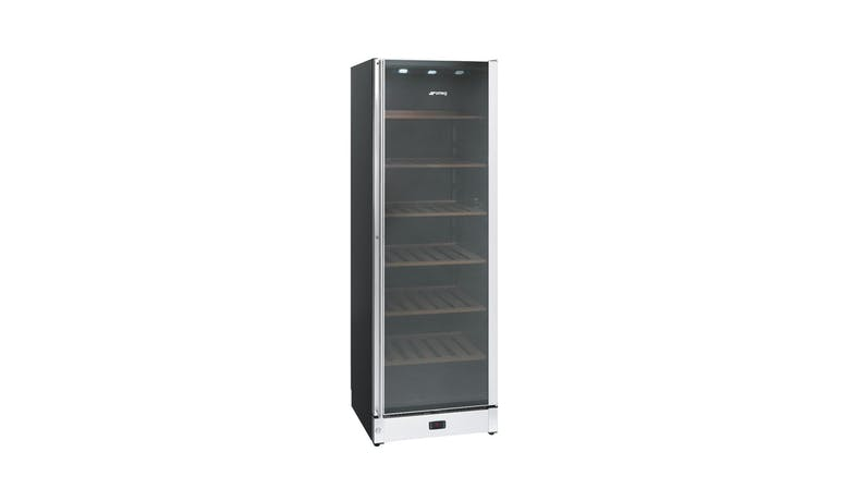 Smeg SCV115A Wine Chiller - Classic Black and Stainless Steel-01