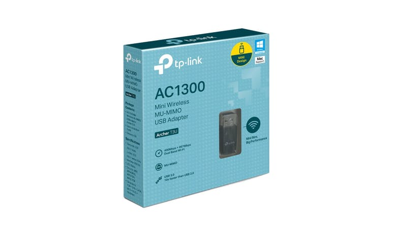 TP-Link Archer T2U Nano AC600 Wireless USB Adapter - Black-02
