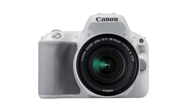 Canon EOS 200D DSLR Camera+18-55mm STM Lens - White-01