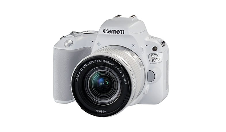 Canon EOS 200D DSLR Camera+18-55mm STM Lens - White-02