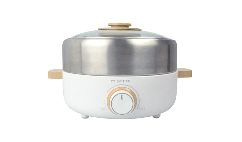 Mistral MHP3 MIMICA Electric Hot Pot with Grill - White-01
