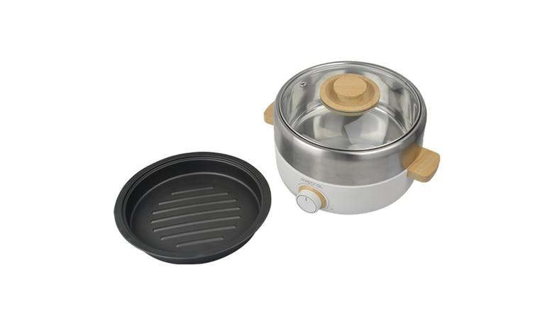 Mistral MHP3 MIMICA Electric Hot Pot with Grill - White-02