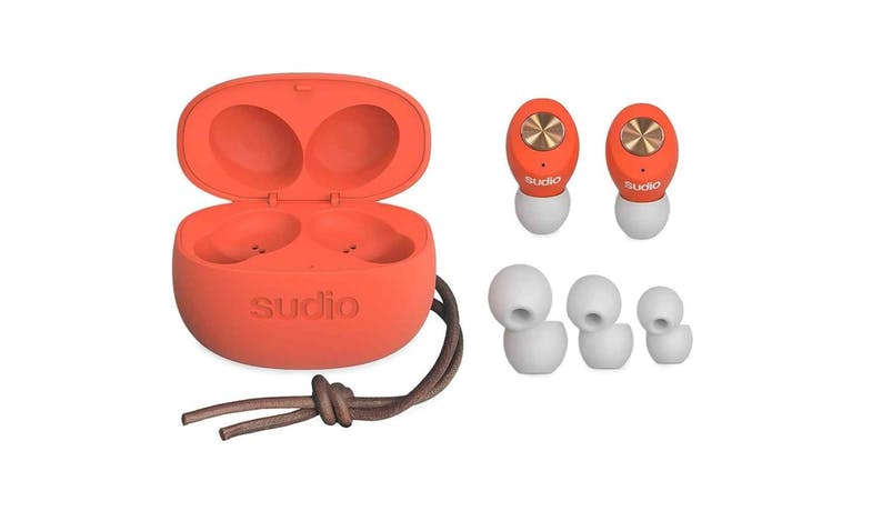 Sudio Tolv Coral True Wireless Earbuds - Orange-01
