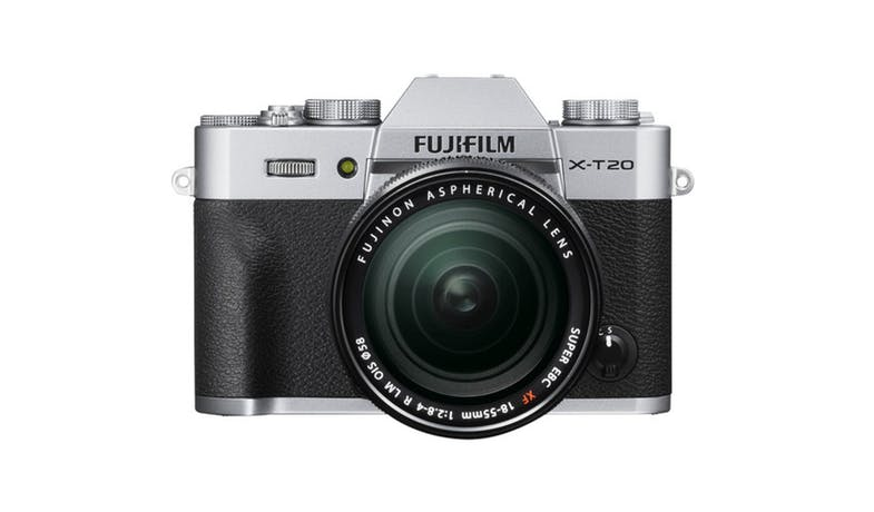 Fujifilm X-T20 Mirrorless Digital Camera with 18-55mm Lens - Silver-01