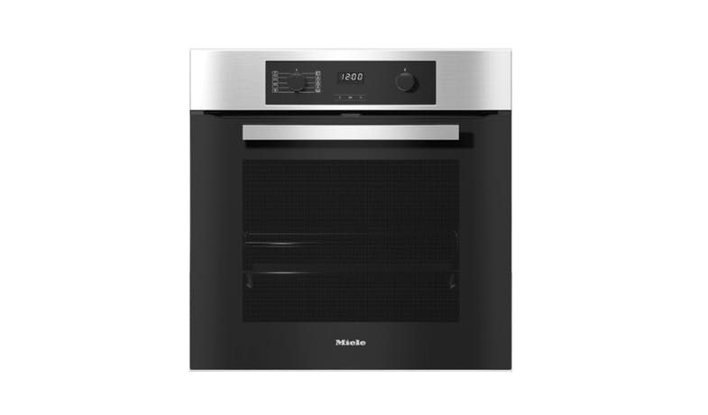 Miele H 2265-1 BP Built-In Single Electric Oven - Clean Steel-01