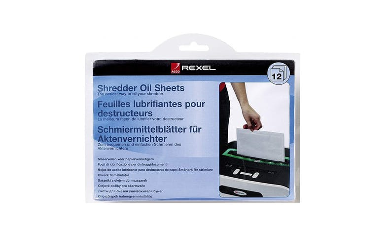 Rexel Shredder Oil Sheets A5 12 Sheets-01