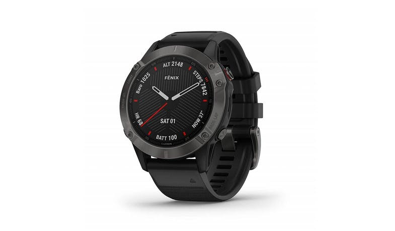 Garmin fēnix 6 (GM-010-02158-45) 47mm Multisport GPS Watch - Carbon Gray with Black Band (Main)