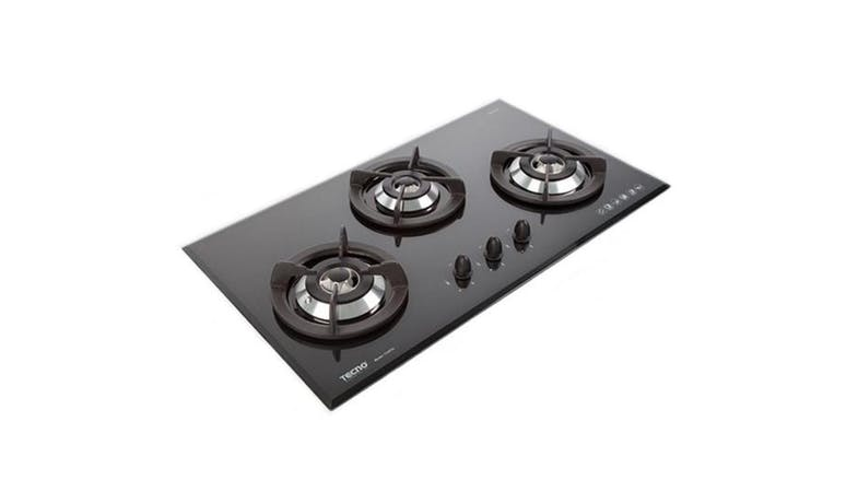 Tecno 3-Burner 90cm Tempered Glass Cooker Hob - Black_01